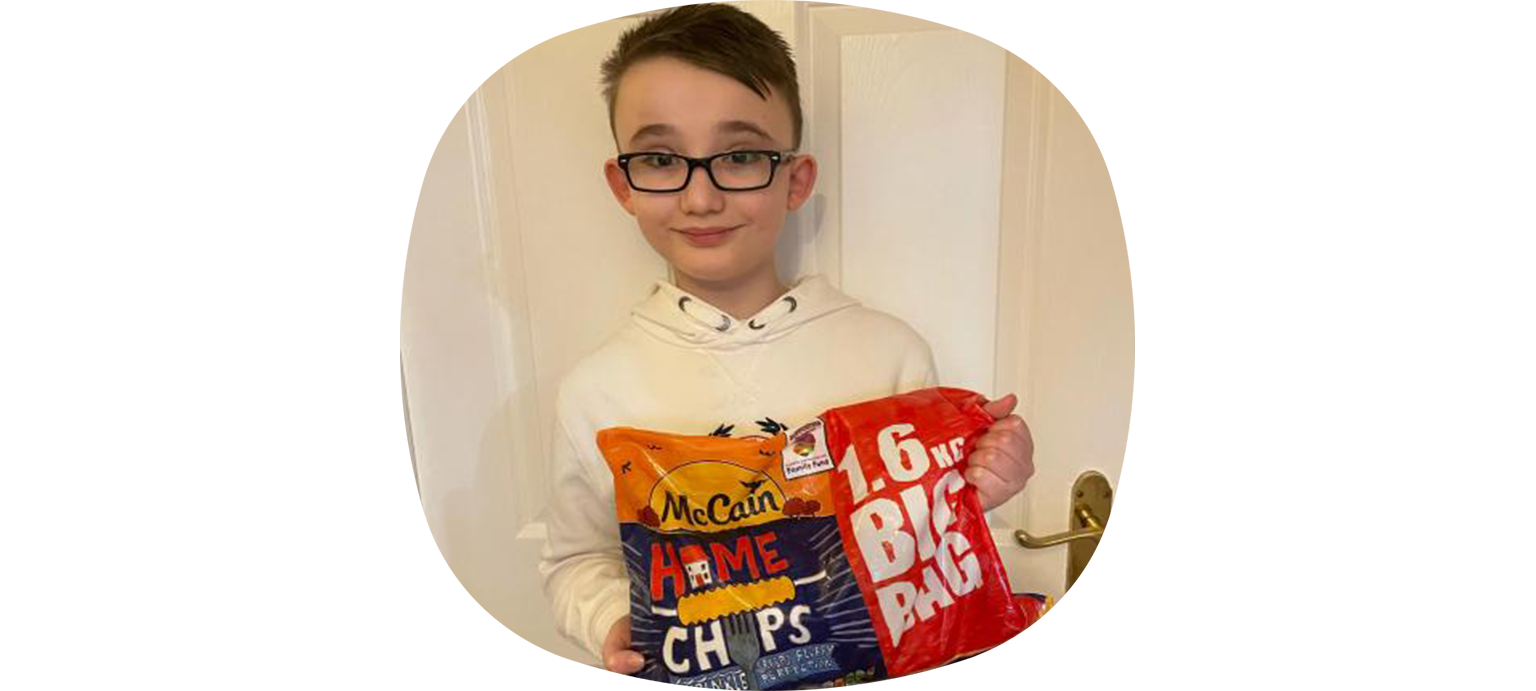 Our Charlie designs the new McCain Chips Bag!
