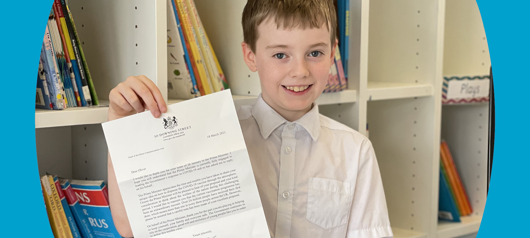 Oliver writes to the Prime Minister!